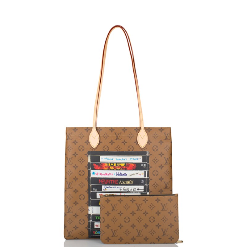 Carry It Reverse Monogram VHS Coated Canvas and Vachetta Tote Gold Tone Hardware