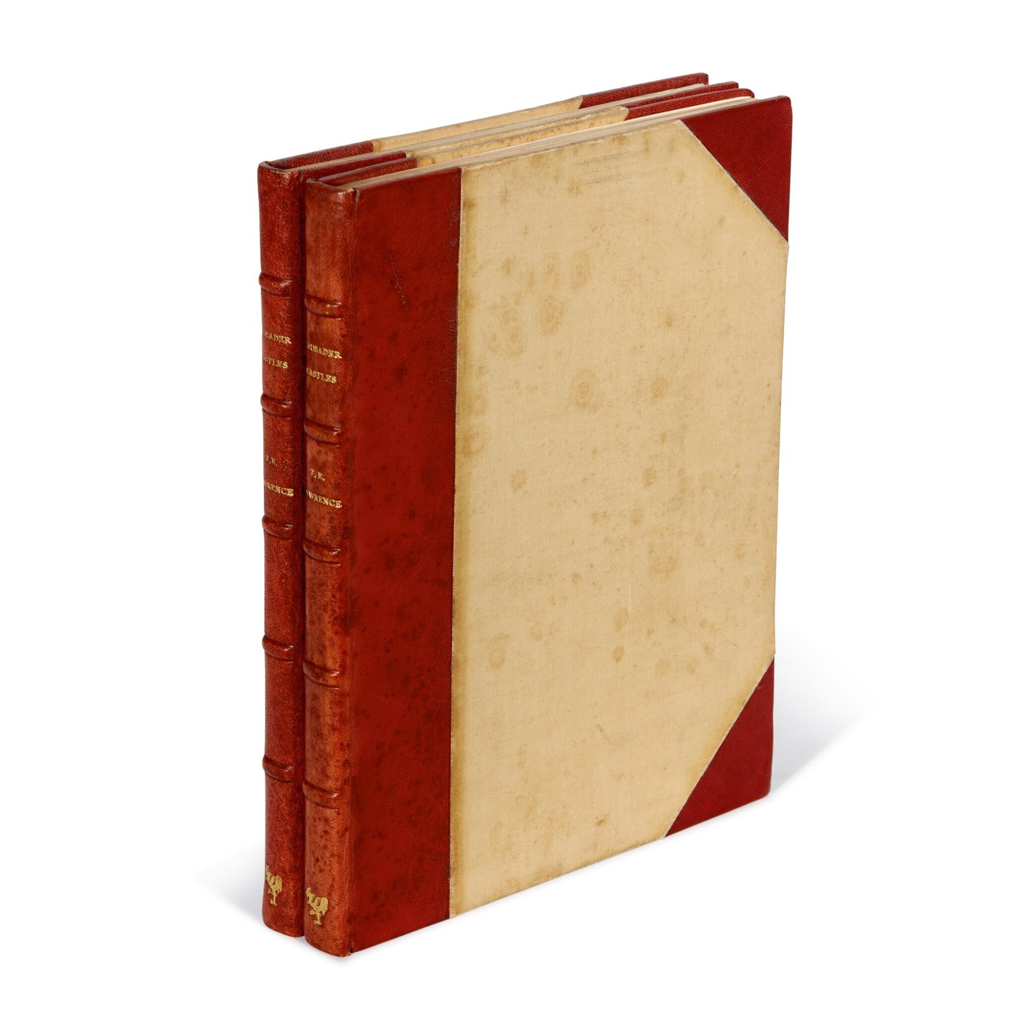View full screen - View 1 of Lot 122. LAWRENCE, T.E.   Crusader Castles, Golden Cockerel Press, 1936, no.263/1000 copies, 2 volumes.
