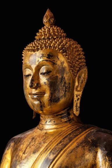 View 6. Thumbnail of Lot 63. Thailand, Ayutthaya Period, 16th/17th century   Seated Buddha.