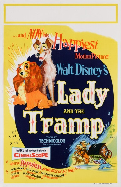 LADY AND THE TRAMP (1955) POSTER, BRITISH