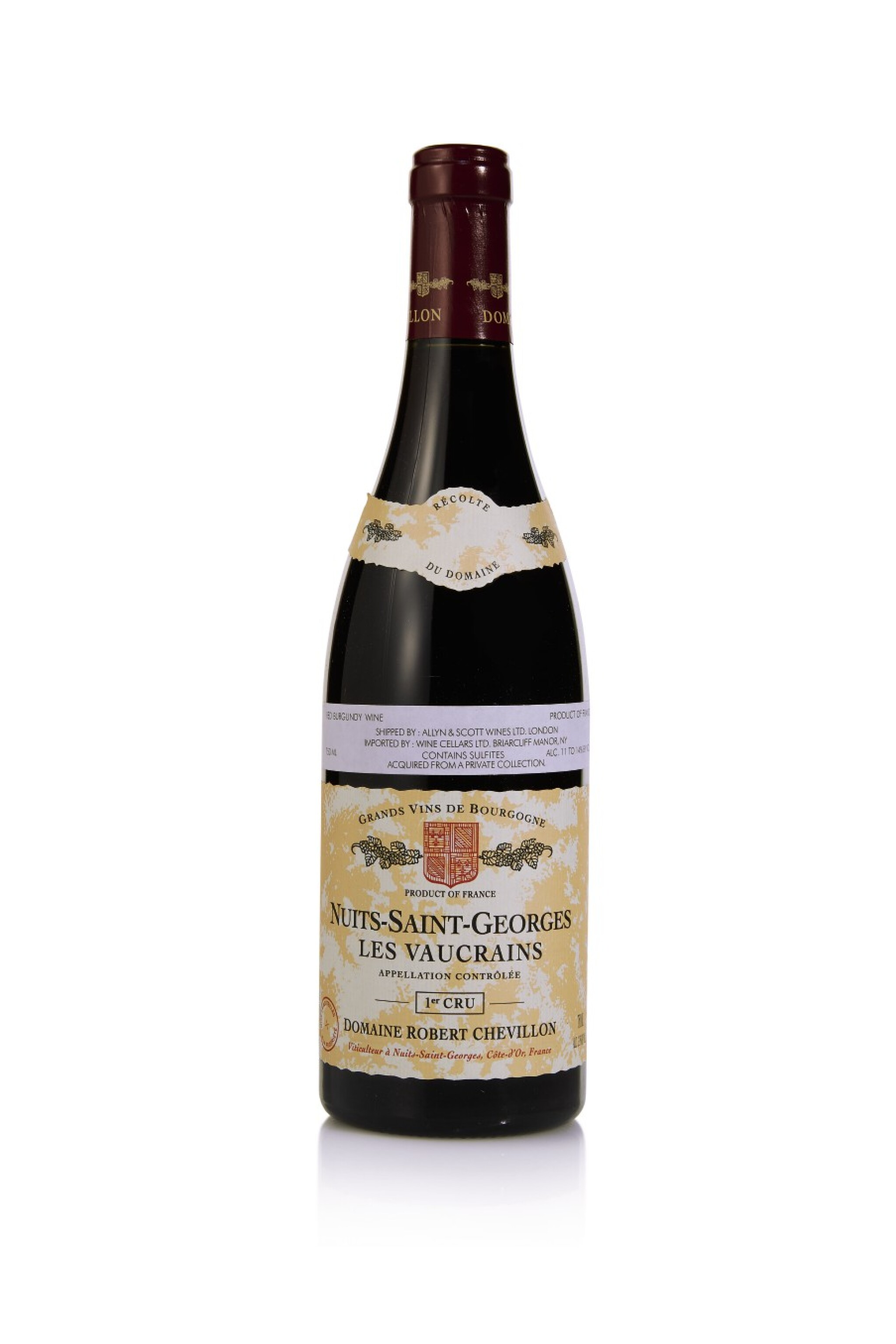 View full screen - View 1 of Lot 173. Nuits St. Georges, Les Vaucrains 2005 Robert Chevillon (9 BT).