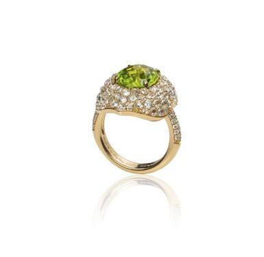 Peridot and diamond ring, Michele della Valle