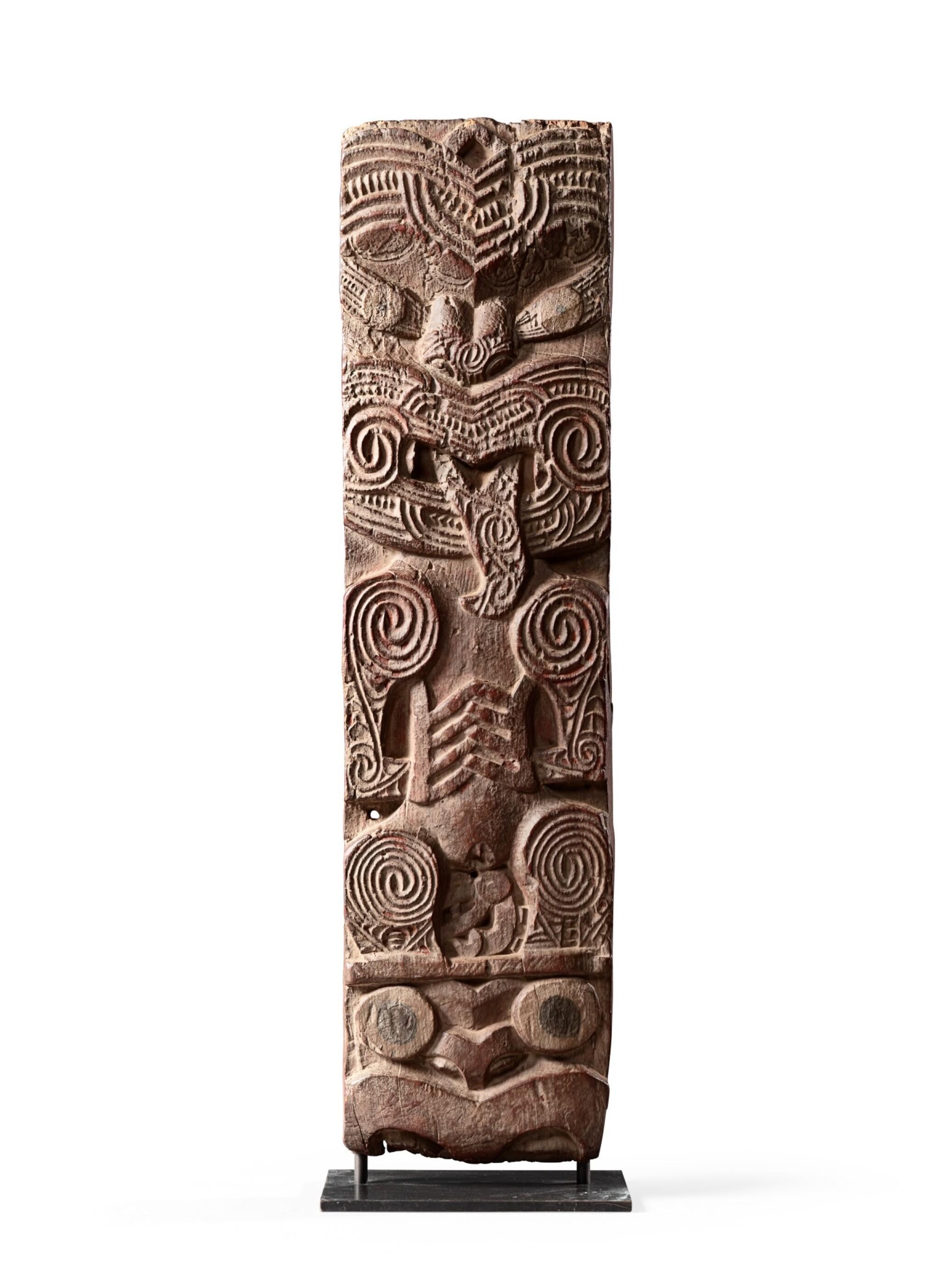 View full screen - View 1 of Lot 188. Panneau Poupou, Maori, Nouvelle-Zélande | Poupou panel, Maori, New Zealand.