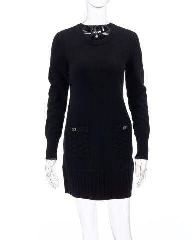 View 1. Thumbnail of Lot 34. Black cashmere-blend dress.
