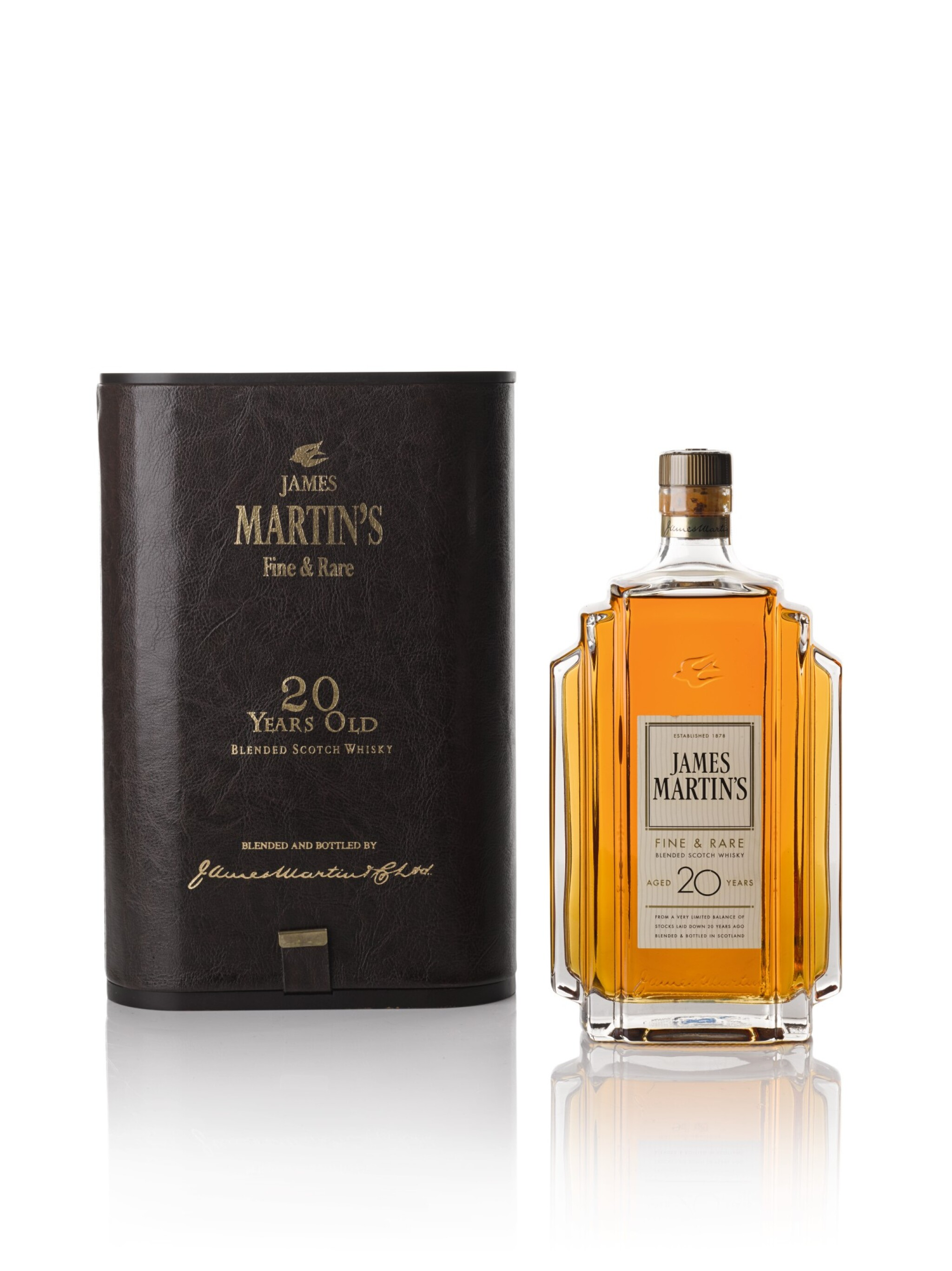 View full screen - View 1 of Lot 104. James Martin's Fine and Rare 20 Years Old Blended Scotch Whisky 47.0 abv NV .