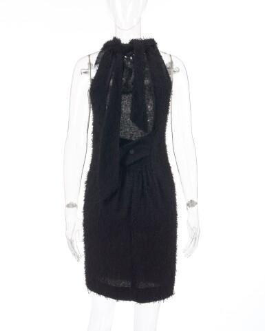 View 3. Thumbnail of Lot 181. Black open-back dress.