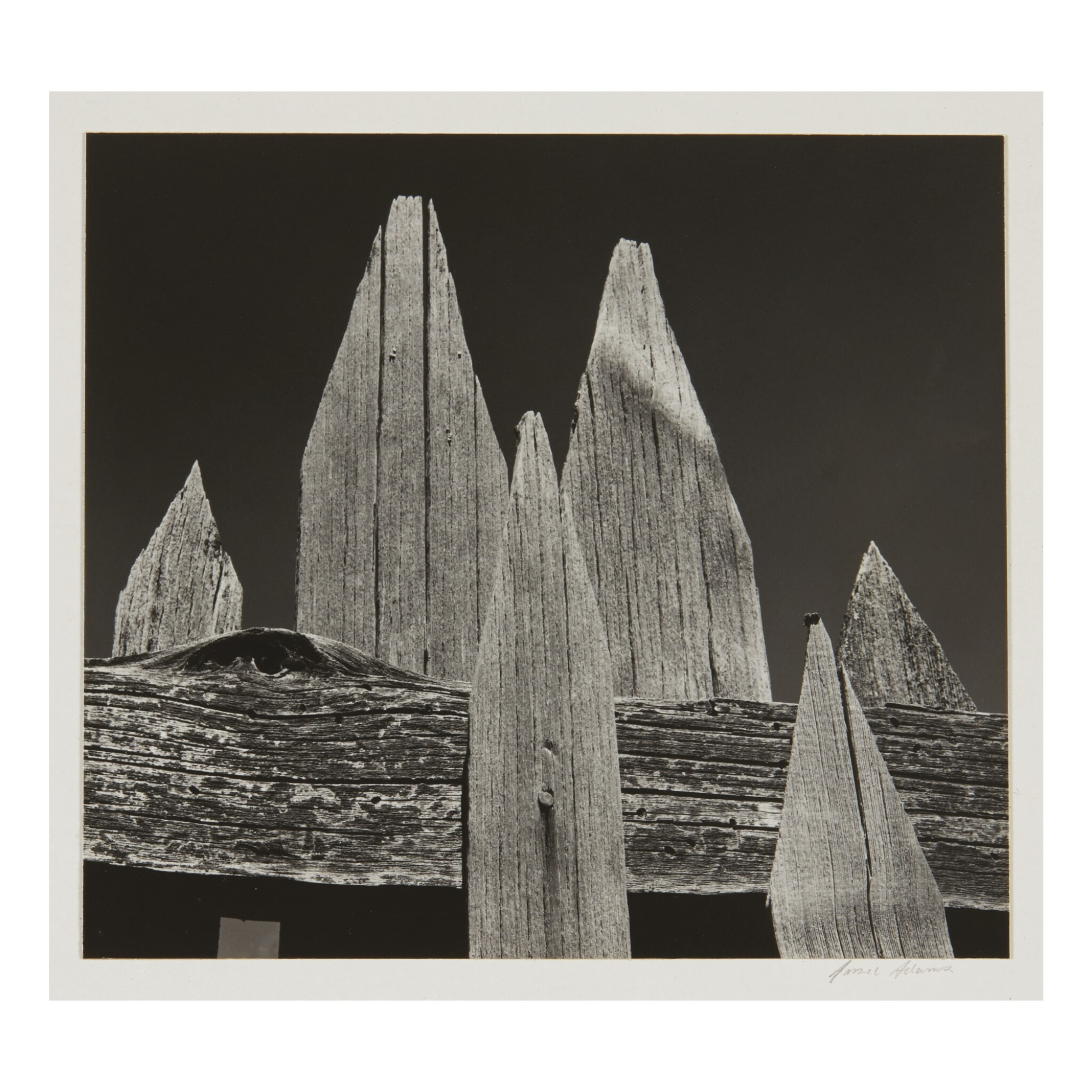 View full screen - View 1 of Lot 97. ANSEL ADAMS | 'PICKET FENCE'.