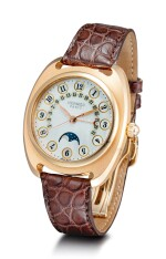 HERMÈS | DRESSAGE II, REFERENCE DR2.770.213, A LIMITED EDITION PINK GOLD WRISTWATCH WITH MOON PHASES, RETROGRADE DATE AND MOTHER-OF-PEARL DIAL, CIRCA 2005