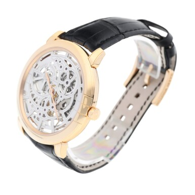 View 2. Thumbnail of Lot 91. HARRY WINSTON   REFERENCE 450-MAS42R MIDNIGHT SKELETON A PINK GOLD SKELETONIZED AUTOMATIC WRISTWATCH, CIRCA 2015.