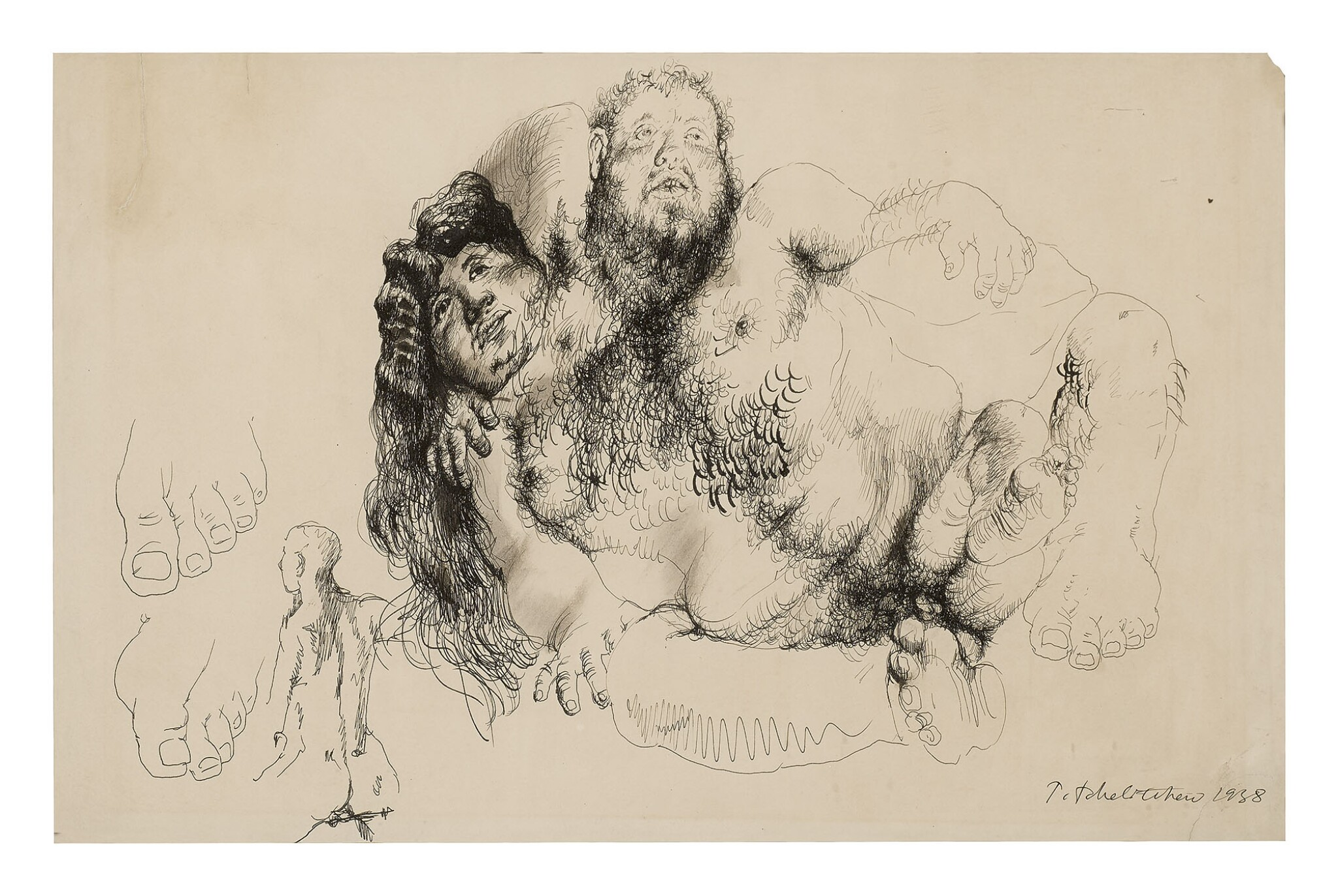 """View full screen - View 1 of Lot 30. PAVEL TCHELITCHEW 