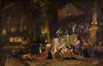 ROMBOUT VAN TROYEN   King Ahaz sacrifices his son to Moloch