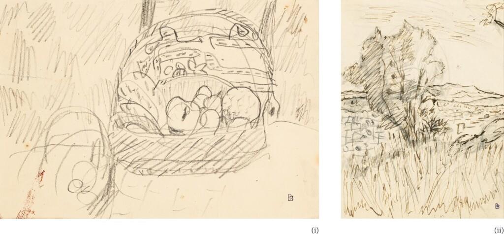 PIERRE BONNARD | DESSINS : (I) NATURE MORTE (II) PAYSAGE DU CANNET