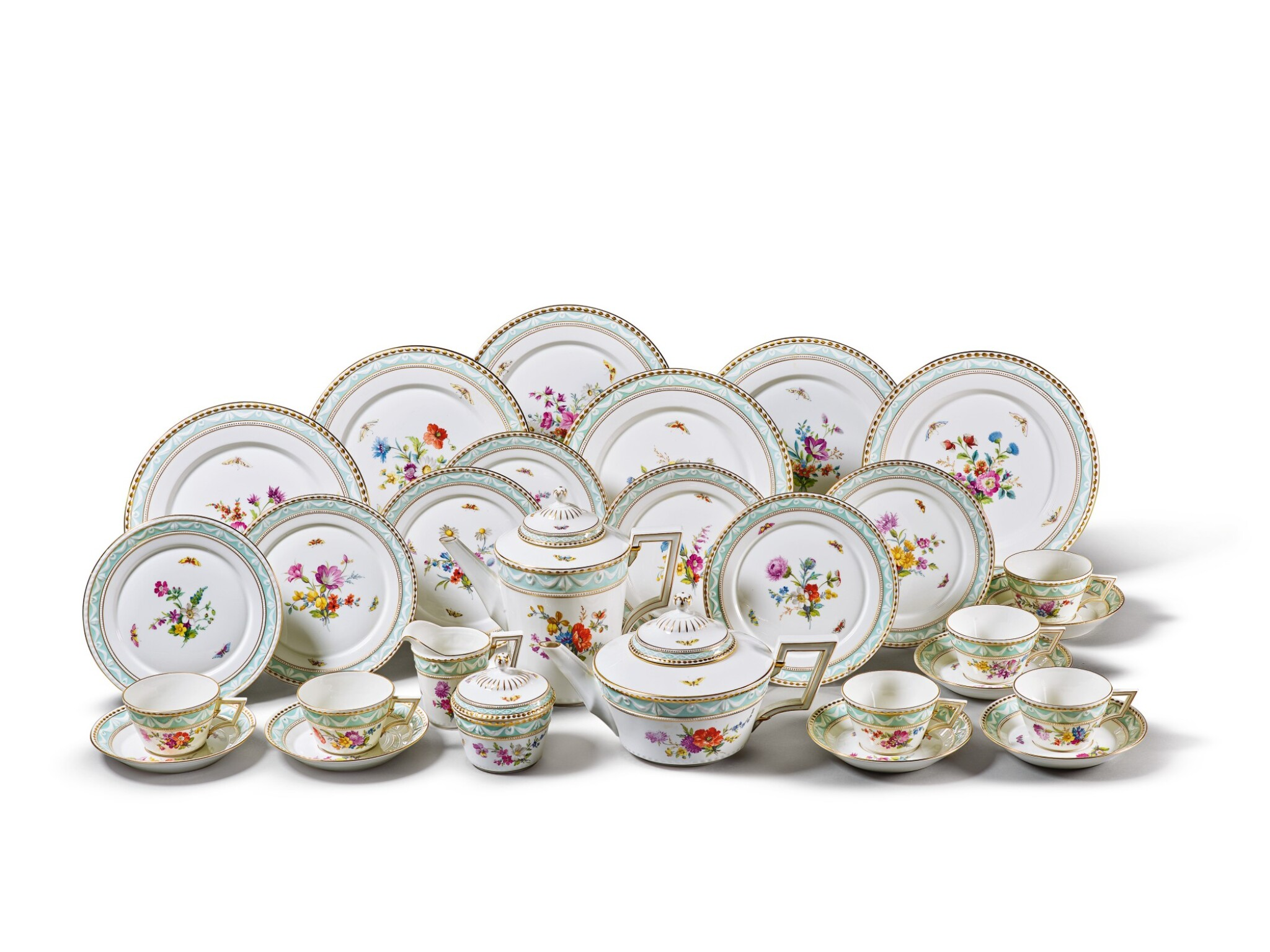 View full screen - View 1 of Lot 208. A BERLIN (K.P.M) TEA AND COFFEE SERVICE, 20TH CENTURY.