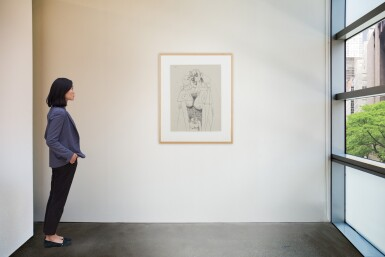 View 4. Thumbnail of Lot 43. GEORGE CONDO   STANDING FEMALE FIGURE.