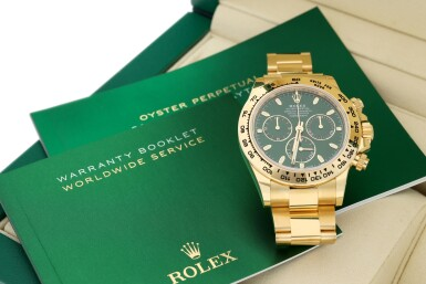 View 8. Thumbnail of Lot 15. ROLEX | REFERENCE 116508 DAYTONA   A YELLOW GOLD AUTOMATIC CHRONOGRAPH WRISTWATCH WITH BRACELET, CIRCA 2019.