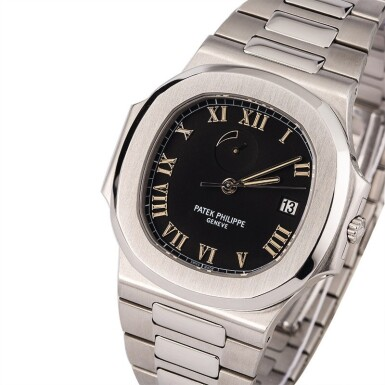 View 1. Thumbnail of Lot 17. PATEK PHILIPPE | Nautilus, Ref. 3710/1A, A Stainless Steel Wristwatch with Integrated Bracelet and Power Reserve Indicator, Circa early 2000s.