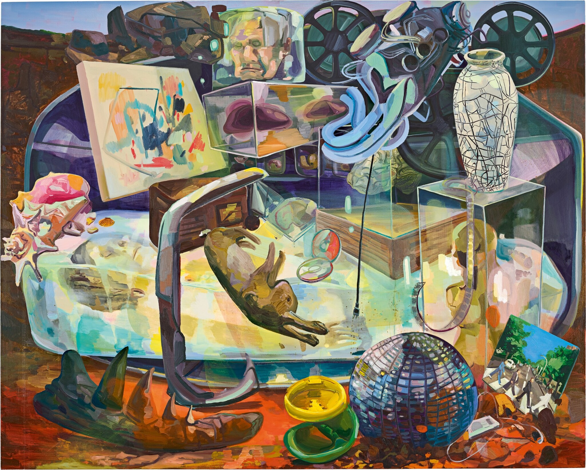 View full screen - View 1 of Lot 23. Dana Schutz 戴娜・舒茨   Wrong Objects Saved for the Future 為將來保存了錯誤的東西.