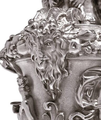 View 6. Thumbnail of Lot 7. A PAIR OF LARGE AND HEAVY EARLY VICTORIAN SILVER EWERS, FROM THE COLLECTION OF SOPHIA LOREN, JOHN FIGG, LONDON, 1838-39.