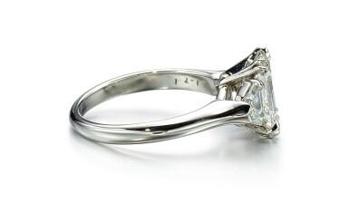 View 2. Thumbnail of Lot 9146. DIAMOND RING, HARRY WINSTON   1.71卡拉 方形 E色 VVS2淨度 鑽石 戒指, 海瑞溫斯頓 ( Harry Winston ).