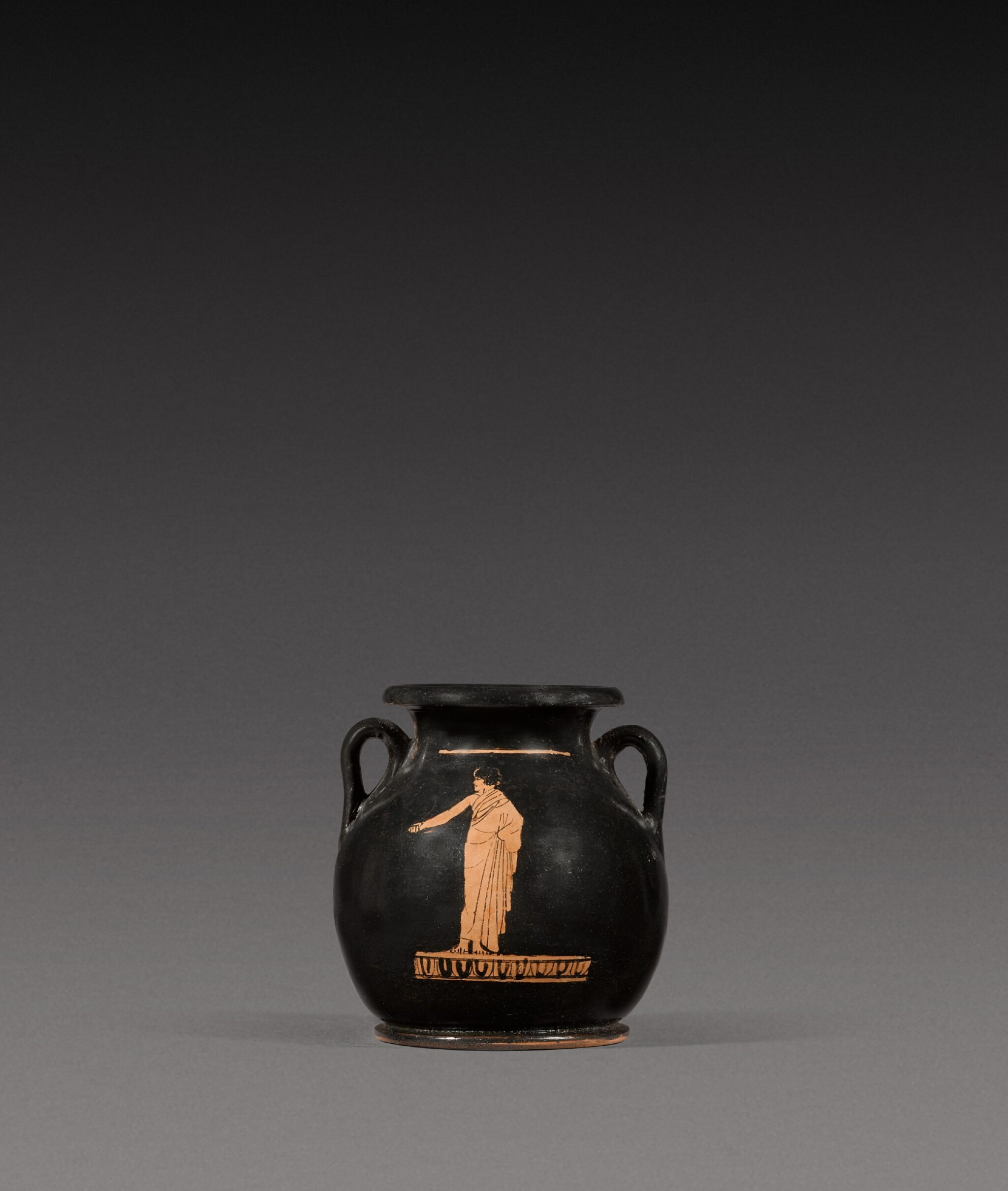 View full screen - View 1 of Lot 15. An Attic Red-figured Pelike, 5th Century B.C..