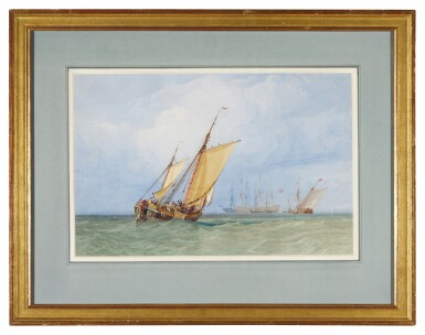 View 2. Thumbnail of Lot 220. Shipping off the coast.