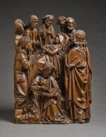SOUTHERN NETHERLANDISH, FLANDERS, OR NORTHERN FRENCH, LATE 15TH CENTURY | RELIEF WITH THE DORMITION OF THE VIRGIN