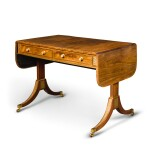 A REGENCY BRASS MOUNTED ROSEWOOD SOFA TABLE, CIRCA 1815, ATTRIBUTED TO JOHN MCLEAN