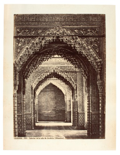 View 2. Thumbnail of Lot 155. Laurent. Twenty five photographs of the Alhambra, Seville and Cordoba. [c.1880s].