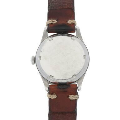 View 4. Thumbnail of Lot 430. REF 2383-6 STAINLESS STEEL WRISTWATCH WITH TWO-TONE DIAL CIRCA 1947.