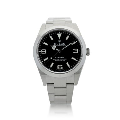 View 1. Thumbnail of Lot 98. ROLEX   REFERENCE 214270 EXPLORER A STAINLESS STEEL AUTOMATIC WRISTWATCH, CIRCA 2019.