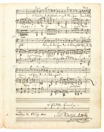 "F. Mendelssohn Bartholdy. Autograph manuscript of the song 'Im Frühling' (""Ich hör' ein Vöglein locken""), London 1842"