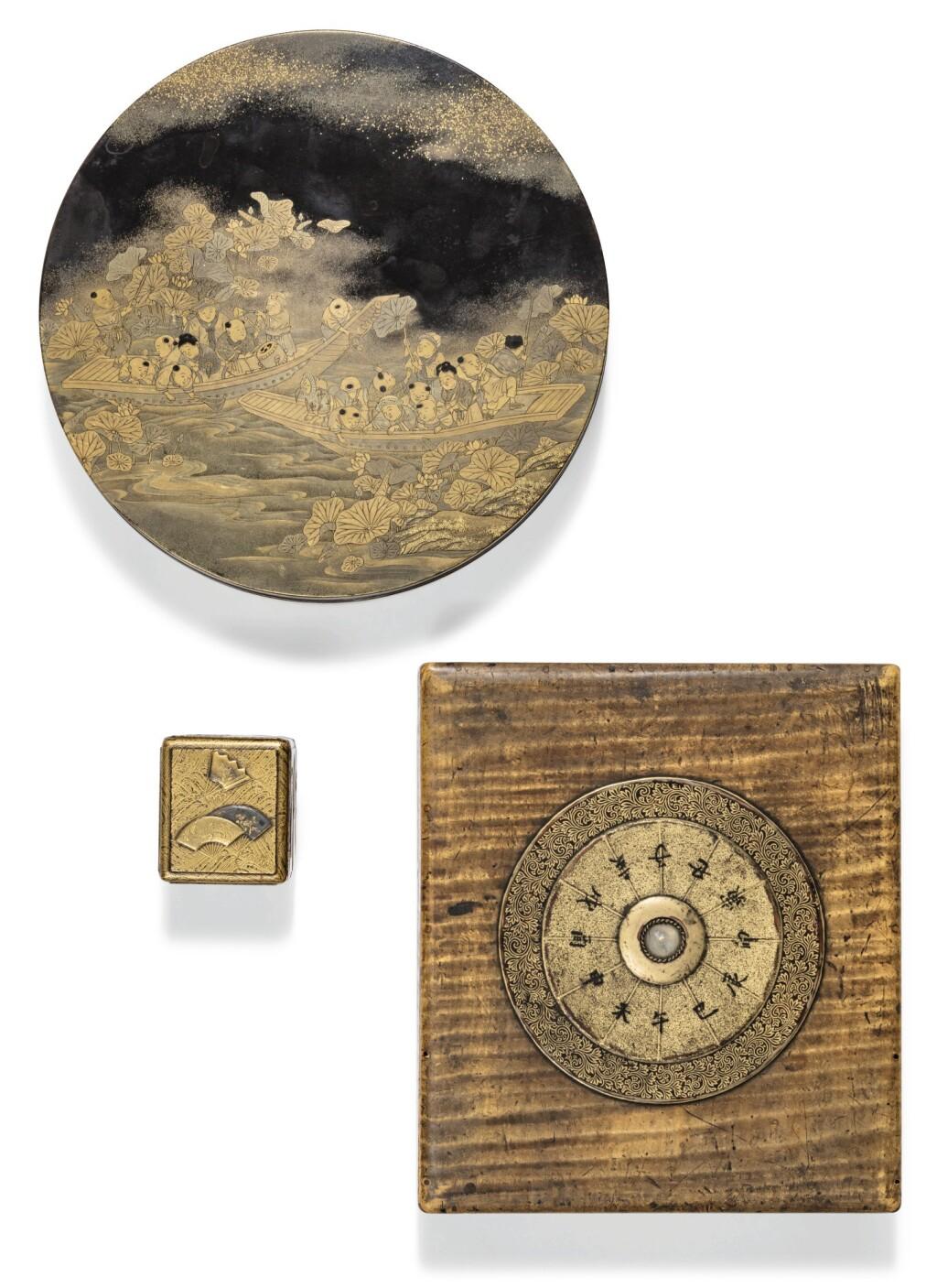 DEUX SUZURIBAKO EN LAQUE JAPON, ÉPOQUE EDO/MEIJI | Two lacquer suzuribako, Japan, Edo/Meiji period
