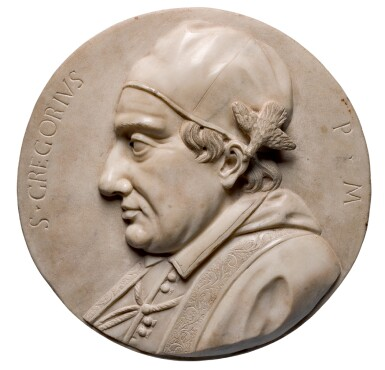 ATTRIBUTED TO ANTONIO MONTAUTI (1685-1740), ITALIAN, EARLY 18TH CENTURY | PAIR OF PROFILE RELIEFS OF SAINT GREGORY THE GREAT AND POPE INNOCENT XI