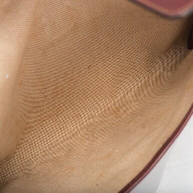 View 7. Thumbnail of Lot 24. Hermès Vintage Rouge H Box Jige Elan Clutch 29cm.
