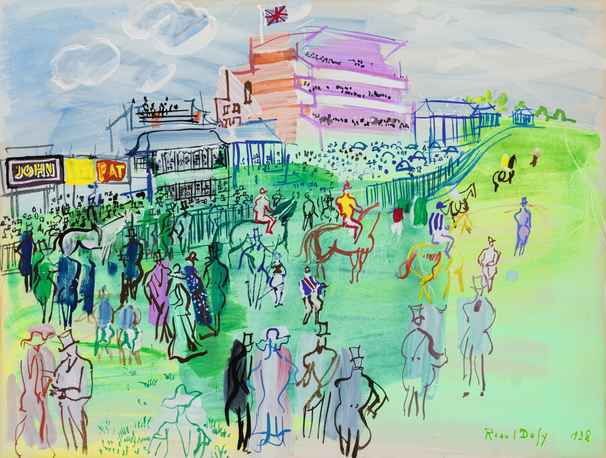 View full screen - View 1 of Lot 132. RAOUL DUFY | LE CHAMP DE COURSES D'EPSOM.