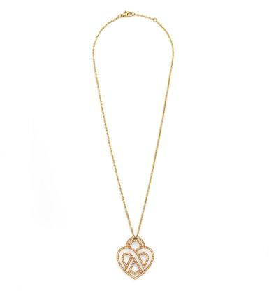 Poiray, Diamond necklace [Collier diamants], 'Coeur entrelacé'