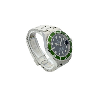View 3. Thumbnail of Lot 97. REFERENCE 16610LV SUBMARINER 'KERMIT' A STAINLESS STEEL AUTOMATIC WRISTWATCH WITH DATE AND BRACELET, CIRCA 2003.