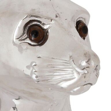 View 6. Thumbnail of Lot 52. A SILVER-PLATED WINE COOLER IN THE FORM OF A SEA LION, UNMARKED, 20TH CENTURY.
