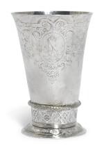 A DUTCH SILVER BEAKER, UNMARKED, PROBABLY FRISIAN, CIRCA 1650