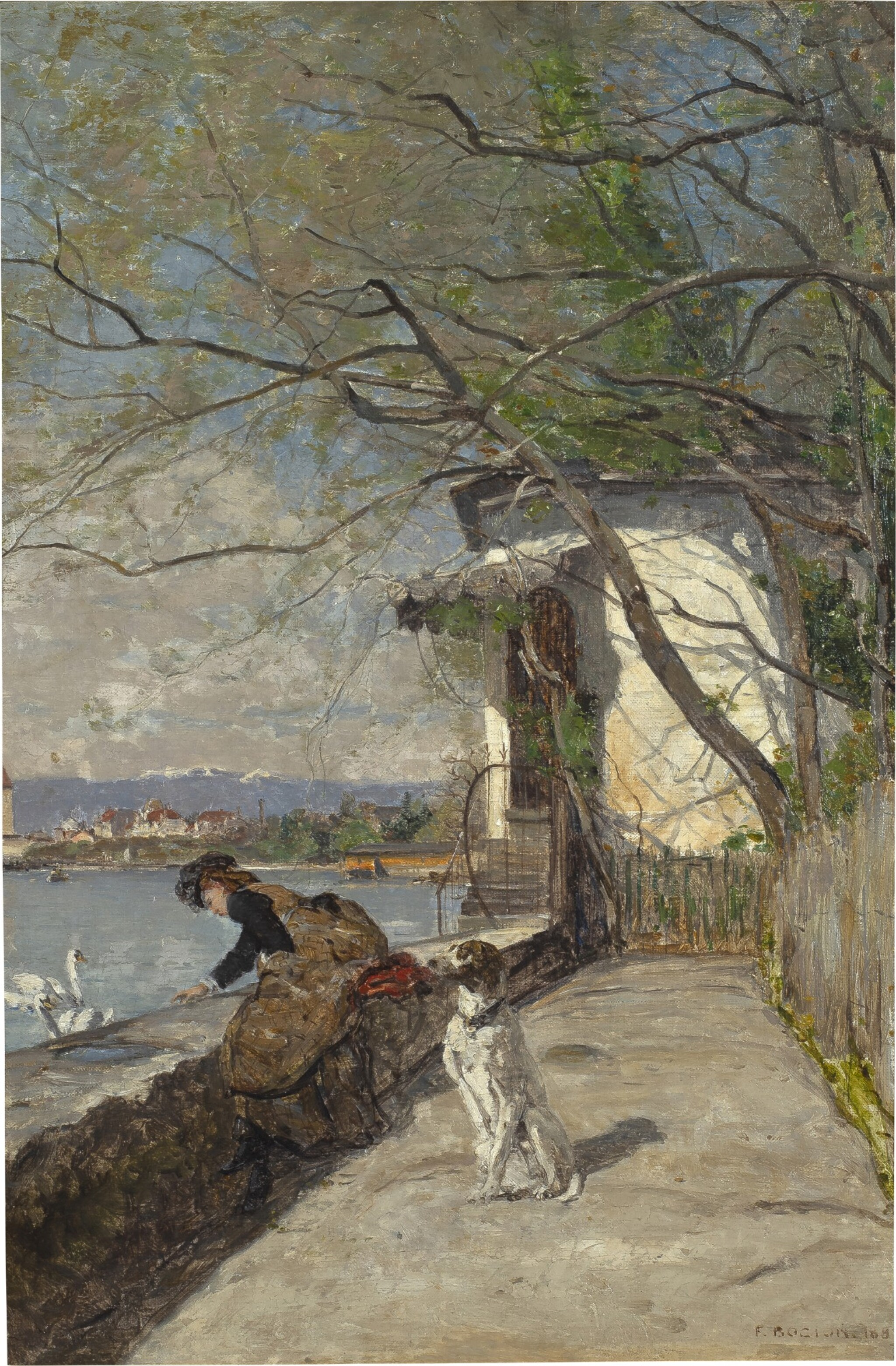 View full screen - View 1 of Lot 27. Le repas des cygnes, 1883.