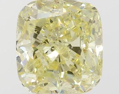 A 1.03 Carat Fancy Yellow Cushion-Cut Diamond