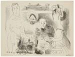 PABLO PICASSO   PORTRAIT DE FAMILLE, HOMME AUX BRAS CROISÉS (B. 1029; M. 383B)