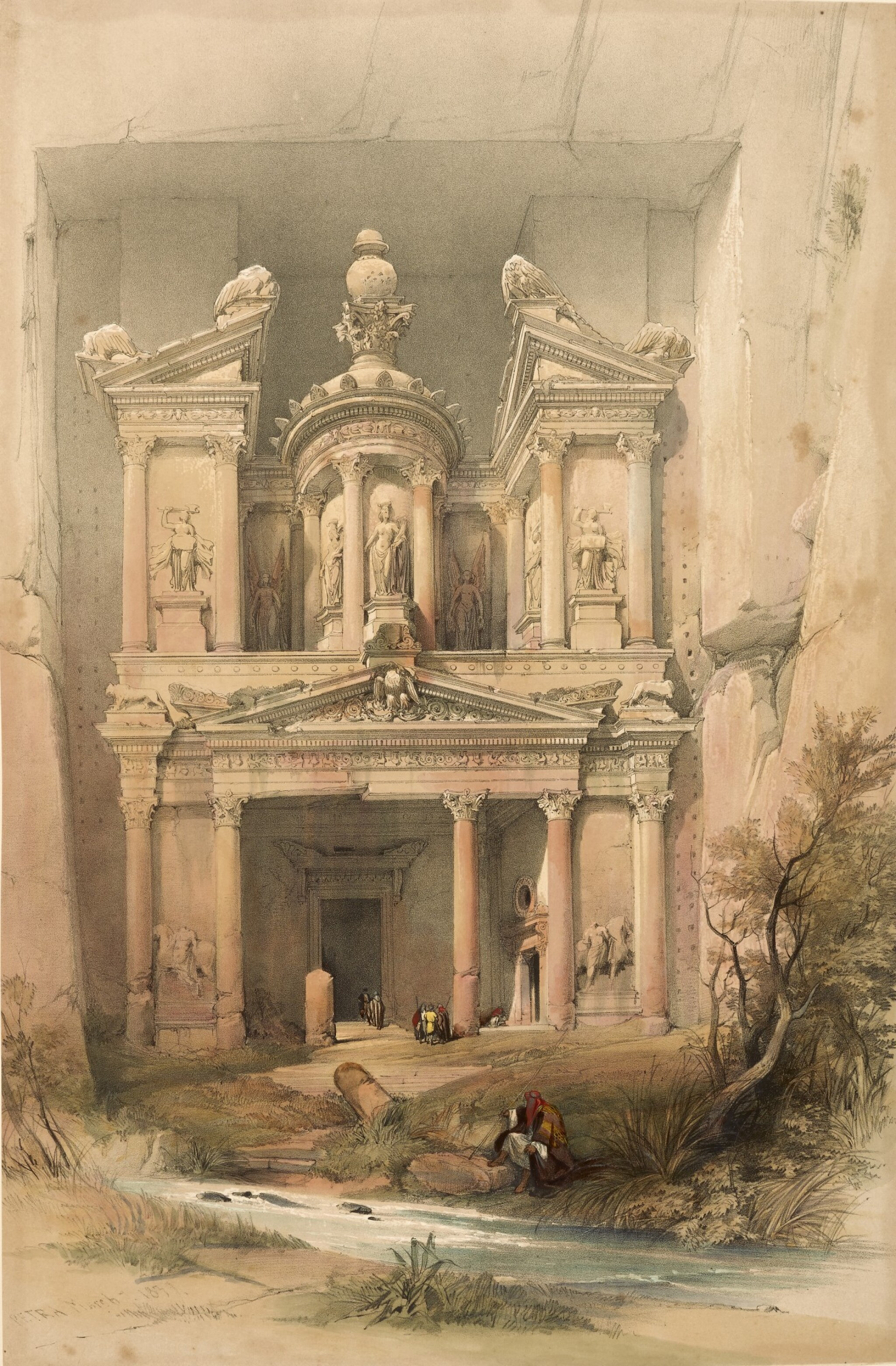 View full screen - View 1 of Lot 150. ROBERTS   The Holy Land, 1842-1849, 3 volumes, deluxe edition.