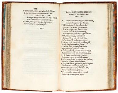 Catullus, Tibullus, Propertius, Venice, Aldus, 1502, later marbled calf