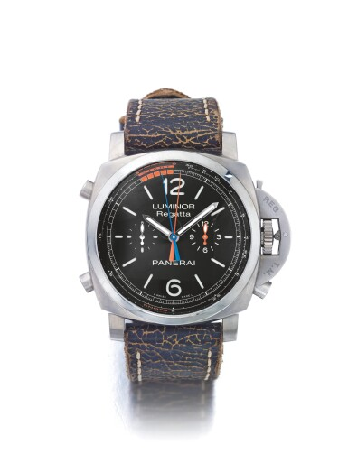 PANERAI | LUMINOR REGATTA PAM00526, A LIMITED EDITION TITANIUM AUTOMATIC SPLIT-SECONDS FLY-BACK CHRONOGRAPH WRISTWATCH WITH 3-DAY POWER RESERVE CIRCA 2010