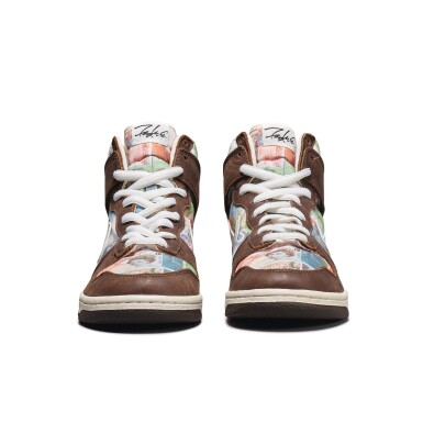 View 8. Thumbnail of Lot 1. Leonard Hilton McGurr 'Futura' | Nike Dunk High Pro SB 'FLOM' | Size 8.