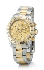 ROLEX | COSMOGRAPH DAYTONA, REFERENCE 116523,  A STAINLESS STEEL, YELLOW GOLD AND DIAMOND-SET CHRONOGRAPH WRISTWATCH WITH BRACELET, CIRCA 2005