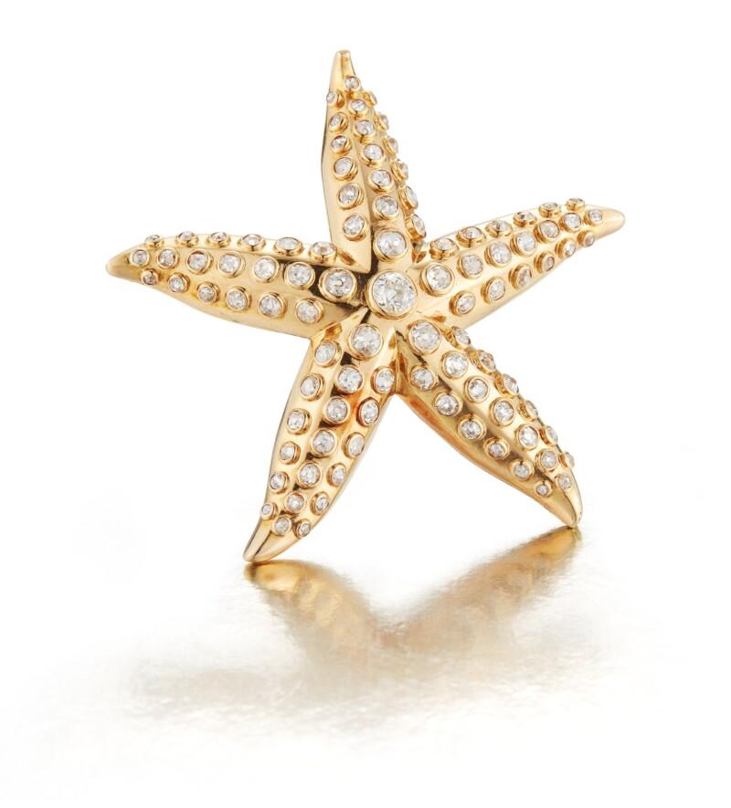 Gold and Diamond Brooch