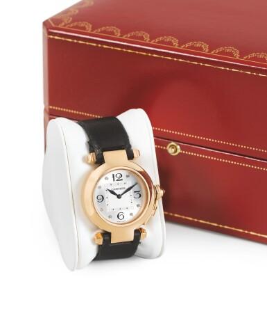 CARTIER | PASHA, DIAMOND-SET PINK GOLD WRISTWATCH [PASHA, MONTRE EN OR ROSE SERTIE DIAMANTS]