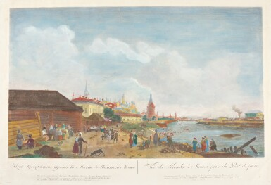 MATTHIAS GOTTFRIED EICHLER | View of the Moscow Kremlin and View of the Winter Palace from Vasilievsky Island